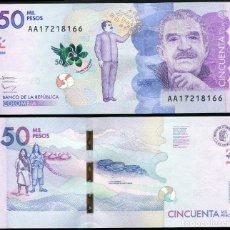 Billetes extranjeros: COLOMBIA 50000 (CINCUENTA MIL) PESOS 2015 - PICK NUEVO - S/C UNC. Lote 69390557