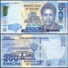 Billetes extranjeros: MALAWI - 200 KWACHA - 1ST. JANUARY 2016 - S/C. Lote 126065060