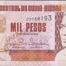 Notas Internacionais: BILLETES GUINEA-BISSAU - 1000 PESOS 1993 - SERIE DD 788161 - PICK-13B (SC). Lote 236850000