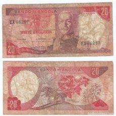 Billetes extranjeros: ANGOLA 20 ESCUDOS 1972 PICK 99. Lote 69994426