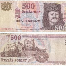 Billetes extranjeros: HUNGRIA - HUNGARY 500 FORINT 2008 PICK 196.B. Lote 70055073
