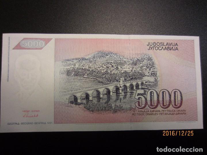 5000 Dinara 1991 UNC P-111 Yugoslavia