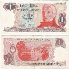 Billetes extranjeros: ARGENTINA 1 PESO ARGENTINO 1983-84 PICK 311.A.1. Lote 71220073