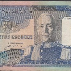 Billetes extranjeros: BILLETES - ANGOLA 500 ESCUDOS 1972 - SERIE BH - PICK-102 (MBC-). Lote 71540803