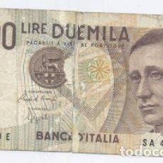 Billetes extranjeros: ITALIA- 2000 LIRAS-1990. Lote 71564767