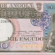 Billetes extranjeros: BILLETES - ANGOLA 1000 ESCUDOS 1973 - SERIE ZS - PICK-108 (EBC+). Lote 71573827