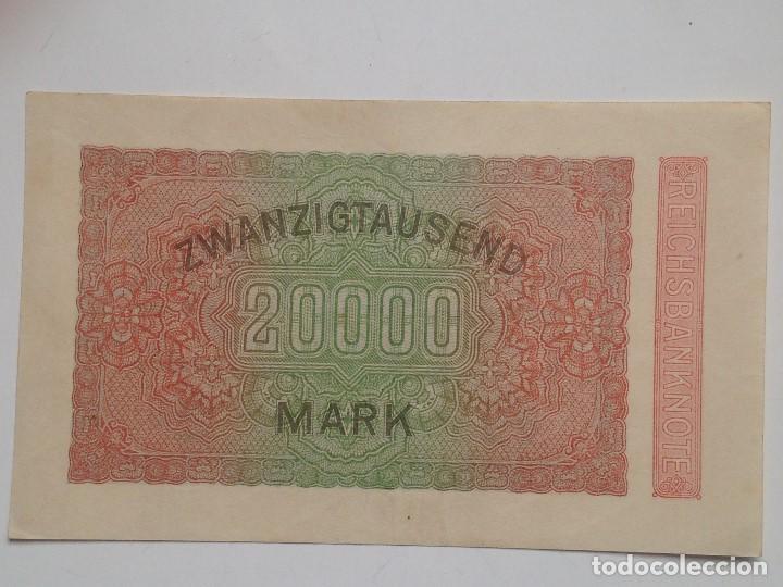Billetes extranjeros: Billete Alemania. 20.000 Marcos. 20-2-1923. Marca L - Foto 2 - 71726299