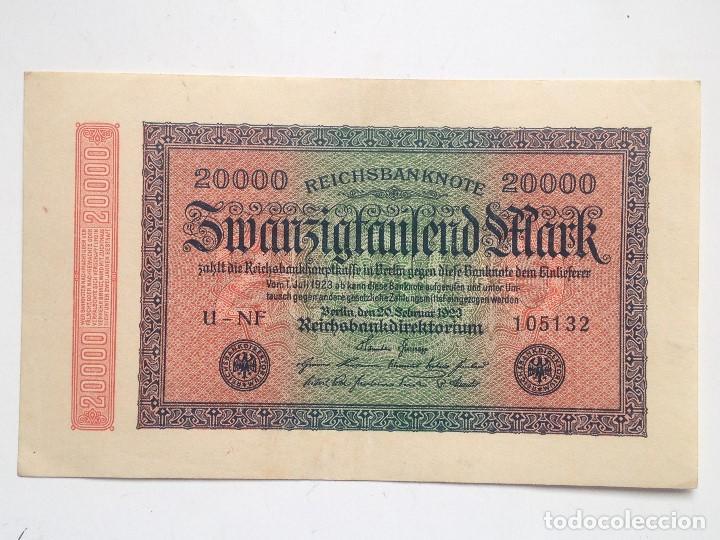 BILLETE ALEMANIA. 20.000 MARCOS. 20-2-1923. MARCA L (Numismática - Notafilia - Billetes Internacionales)