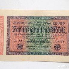 Billetes extranjeros: BILLETE ALEMANIA. 20.000 MARCOS. 20-2-1923. MARCA L. Lote 71726299