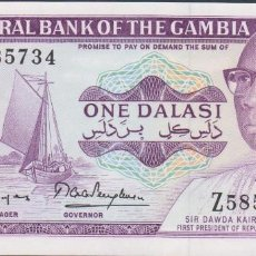 Billetes extranjeros: BILLETES - GAMBIA - 1 DALASI (1971-87) SERIE Z (REEMPLAZO-REPLACEMENT) PICK-4G (SC). Lote 71869083