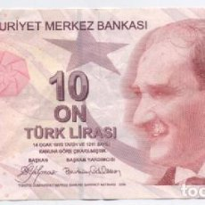 Billetes extranjeros: TURQUIA- 10 LIRAS-2009. Lote 72128915