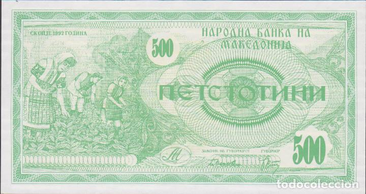 Billetes macedonia - 500 denari 1992 - nº 56623 - Sold
