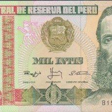 Billetes extranjeros: BILLETES - PERU - 1000 INTIS 1988 - SERIE B1923158Q - PICK-136B (SC). Lote 147108469