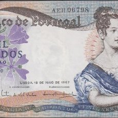 Billetes extranjeros: BILLETES - PORTUGAL 1000 ESCUDOS 1967 - SERIE AEH - PICK-172 (MBC). Lote 72429259