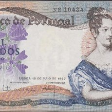 Billetes extranjeros: BILLETES - PORTUGAL 1000 ESCUDOS 1967 - SERIE NN - PICK-172 (MBC). Lote 72429275