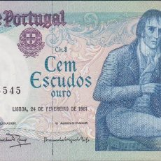 Billetes extranjeros: BILLETES - PORTUGAL 100 ESCUDOS 1981 - SERIE AVT - PICK-178B (EBC). Lote 72429319