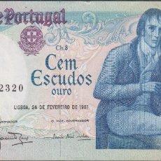 Billetes extranjeros: BILLETES - PORTUGAL 100 ESCUDOS 1981 - SERIE ARB - PICK-178B (EBC). Lote 72429335