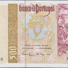 Billetes extranjeros: BILLETES - PORTUGAL 500 ESCUDOS 1997 - SERIE 37A 819925 - PICK-187A (SC). Lote 174284858