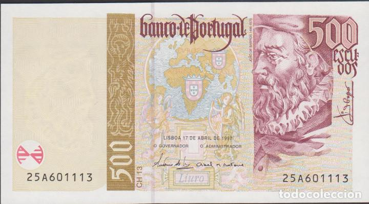 BILLETES - PORTUGAL 500 ESCUDOS 1997 - SERIE 25A601066 - PICK-187A (SC) (Numismática - Notafilia - Billetes Extranjeros)