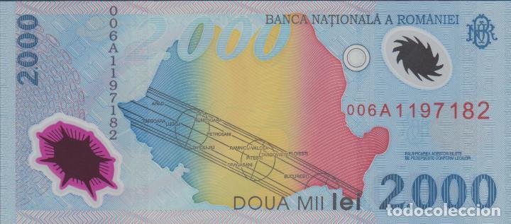 BILLETES - ROMANIA-RUMANIA - 2000 LEI 1999 - SERIE 006A-1197237 - PICK-111B (SC) (Numismática - Notafilia - Billetes Extranjeros)