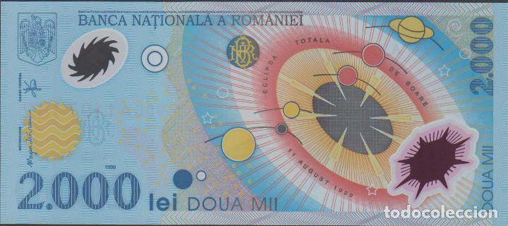 Billetes extranjeros: BILLETES - ROMANIA-RUMANIA - 2000 LEI 1999 - SERIE 006A-1197237 - PICK-111B (SC) - Foto 2 - 167964285
