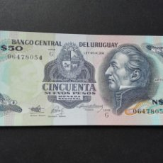 Internationale Banknoten - Uruguay billete plancha 50 nuevos pesos - 72760313