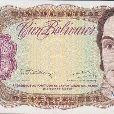Billetes extranjeros: BILLETES - VENEZUELA - 100 BOLIVARES 1992 - SERIE N 55173051 - PICK-66E (SC). Lote 237407125