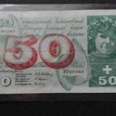Billetes extranjeros: 50 FRANCOS SUIZOS 1955. Lote 73738677