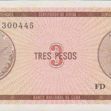 Billetes extranjeros - billetes - cuba - 3 pesos (CERTIFICADO DE DIVISA) nd - serie fd - pick-no (SC) - 73883943