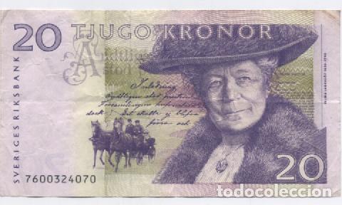 SUECIA- 20 CORONAS (Numismática - Notafilia - Billetes Extranjeros)