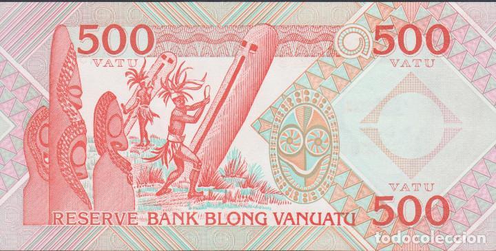 BILLETES - VANUATU - 500 VATU (1993) - SERIE AA 652274 - PICK-5 (SC)