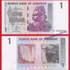 Billetes extranjeros: ZIMBABWE 1 DOLAR 2007 PICK 65 SC. Lote 74555375