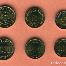 Billetes extranjeros: ECUADOR : 100-500-1000 SUCRES. SERIE BIMETALICA. SC-UNC. . Lote 137940070