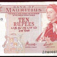 Billetes extranjeros - MAURICIO-MAURITIUS 10 RUPIAS 1967 EBC- - 74927547