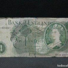 Billetes extranjeros: 1 LIBRA INGLATERRA. Lote 75133071