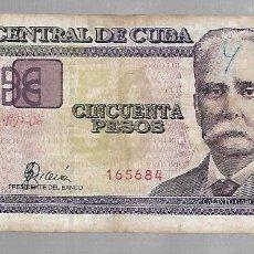 Billetes extranjeros: BILLETE. BANCO CENTRAL DE CUBA. 50 PESOS. 2002. ERROR DE IMPRESION. VER. Lote 75202719