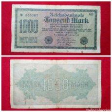 Billetes extranjeros: BILLETE DE ALEMANIA 1000 MARCOS 1922. Lote 75370165