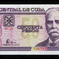 Billetes extranjeros: CUBA 50 PESOS 2001 - SIN CIRCULAR. Lote 194730288