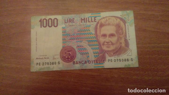 Billete 1000 Lire Mille Banca Ditalia Buy Old International