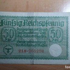Billetes extranjeros: ALEMANIA - 1940- 50 - REICHSPFENNIG - II GUERRA MUNDIAL, TERRITORIOS OCUPADOS- MUY RARO. Lote 75843123