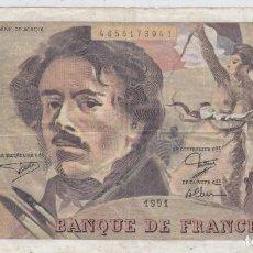 Billetes extranjeros: 0111 BILLETE FRANCIA 100 FRANCOS CENT FRANCS CIRCULADO. Lote 76017155