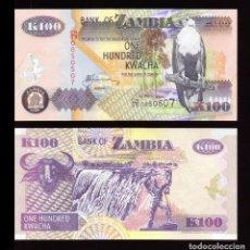 Billetes extranjeros: ZAMBIA - 100 KWACHA - AÑO 2006 - S/C. Lote 96017238