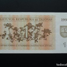 Billetes extranjeros: LITUANIA LITHUANIA 1 TALONAS 1992, SC UNCIRCULATED. Lote 76560383