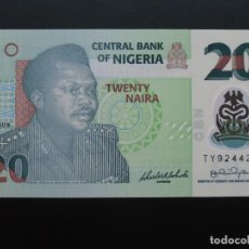 Billetes extranjeros: NIGERIA 20 NAIRA 2009 SC UNCIRCULATED. Lote 76624715