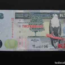Billetes extranjeros: ZAMBIA, 2 KWACHA, 2012, SC-UNCIRCULATED.. Lote 76625831