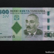 Billetes extranjeros: TANZANIA, 500 SHILLINGI, ND, SC-UNCIRCULATED.. Lote 76626683