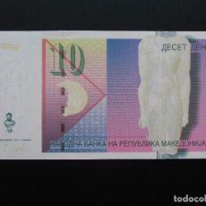 Billetes extranjeros: MACEDONIA 10 DENARI 2011, SC UNCIRCULATED.. Lote 76689519