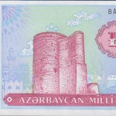 Notas Internacionais: BILLETES AZERBAIJAN - 100 MANAT (1993) - SERIE BA 0291845 - PICK-18B (SC). Lote 236858855