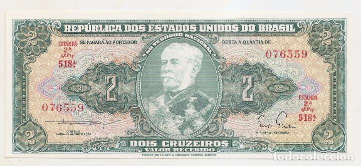 BRASIL. 2 CRUZEIROS. SIN CIRCULAR (Numismática - Notafilia - Billetes Extranjeros)