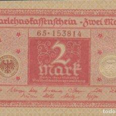 Billetes extranjeros: BILLETES - GERMANY-ALEMANIA - 2 MARK 1920 - SERIE 65-153824 - PICK-59 (SC). Lote 222226413